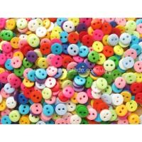 Микс разноцветных пуговиц 9 мм для кукольной одежды, 30 шт
