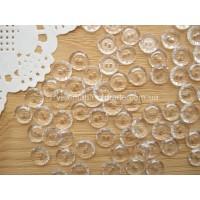 Пуговицы прозрачные круглые с бортиком, 10 мм, 1 шт