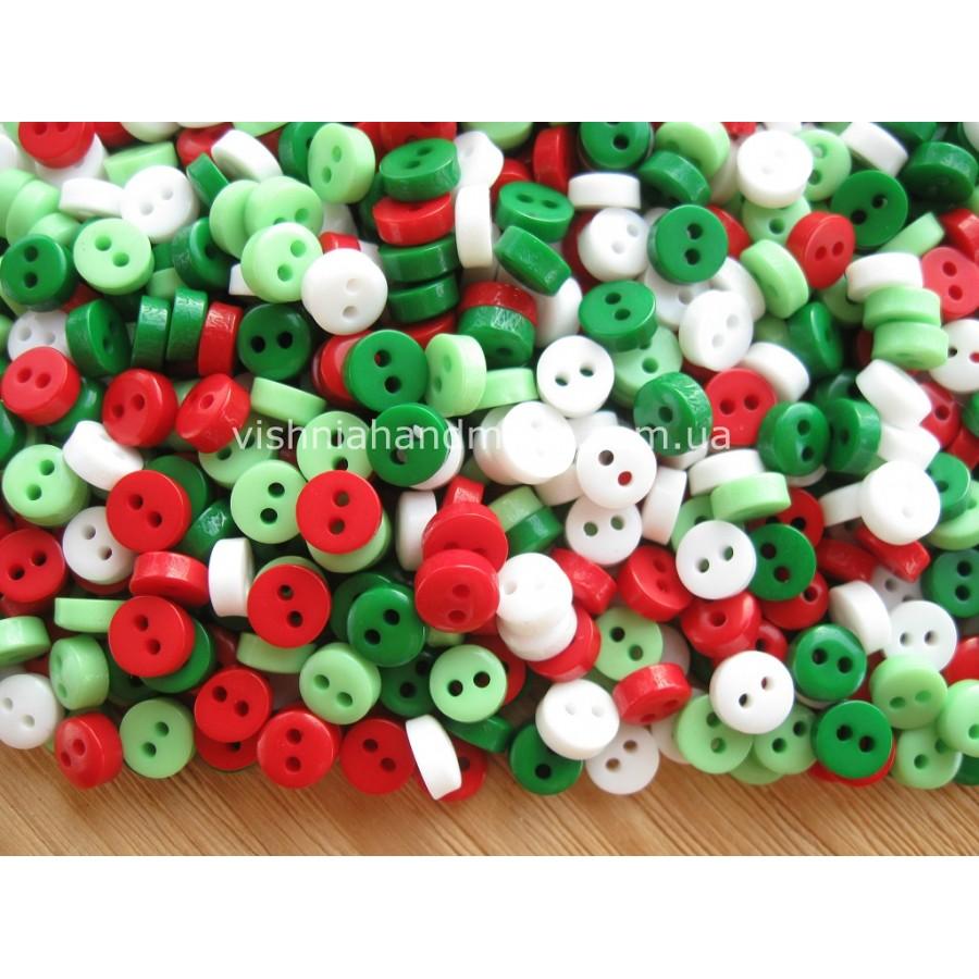 Набор пуговиц 6 мм для кукольной одежды «Новогодние», 20 шт