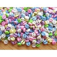 Микро пуговицы 4 мм для кукольной одежды, выбор цвета