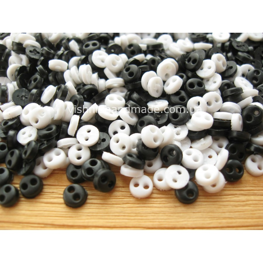 Набор микро пуговиц 4 мм для кукольной одежды «Монохром», 30 шт