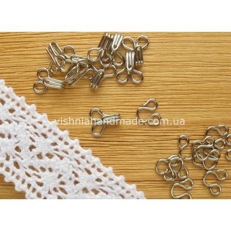 Серебряные мини крючки для кукол, 6 мм, 10 комплектов