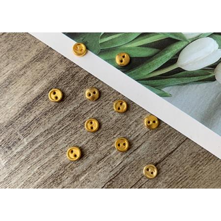 Золотые металлические пуговицы 4 мм для кукольной одежды, 10 шт