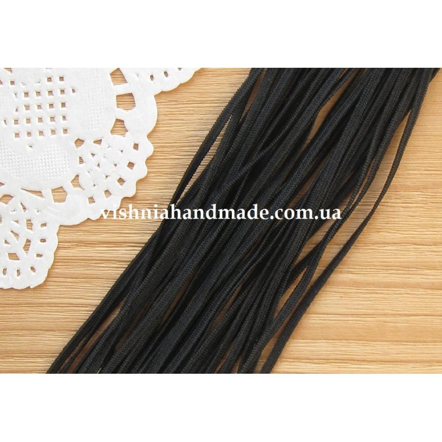 Резинка трикотажная черная ширина 3 мм, 1 м