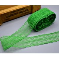 """Кружево зеленое """"Цветочная дорожка"""" ширина 5 см, 1 м"""