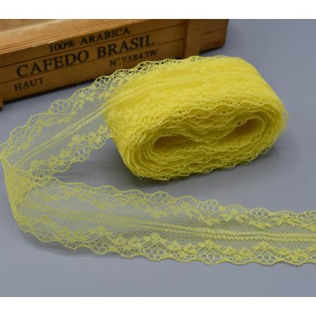 """Кружево желтое """"Адель"""" шириной 4 см, 1 м"""
