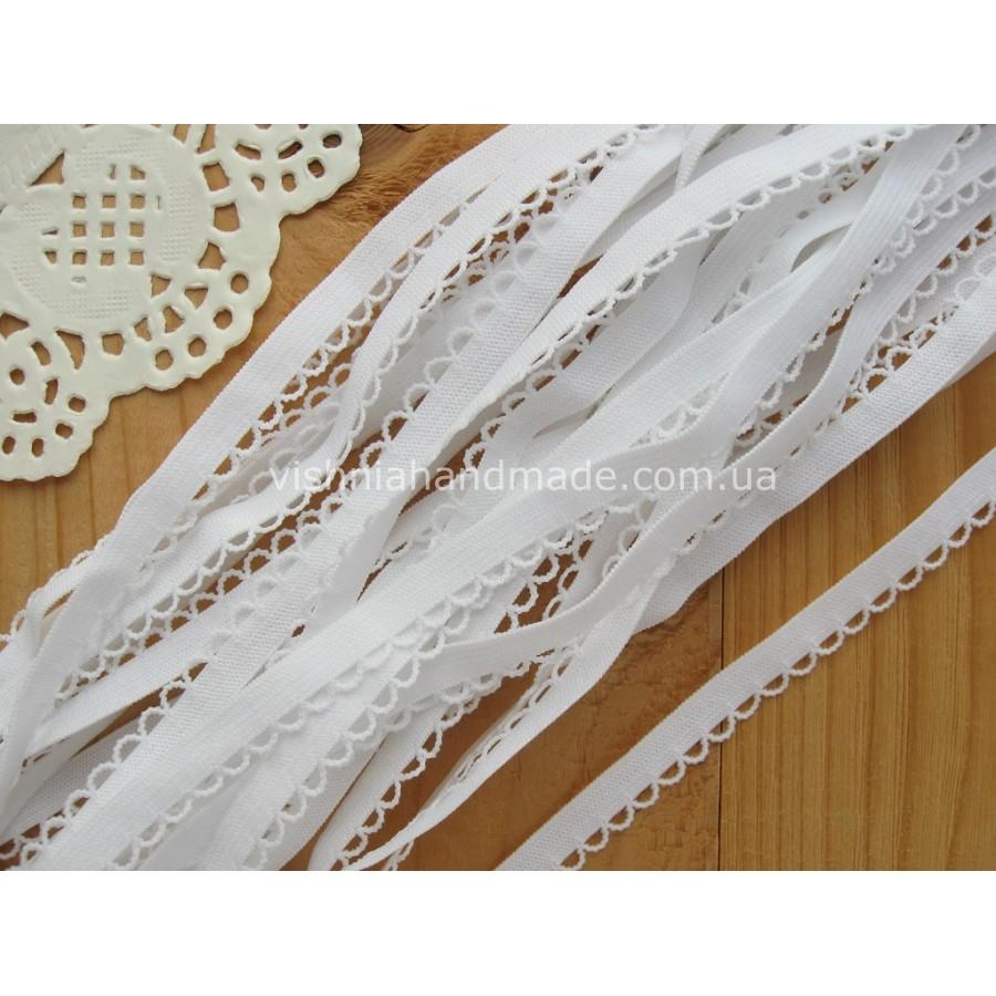 Белая ажурная резинка для кукольной одежды (9 мм)