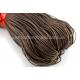 Коричневый вощеный хлопковый шнур (1 мм), 1 м