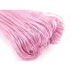 Светло розовый вощеный хлопковый шнур (1 мм), 1 м