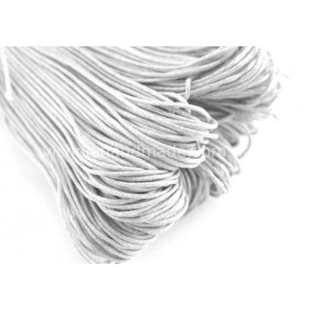 Белый вощеный хлопковый шнур (1 мм), 1 м