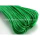 Зеленый вощеный хлопковый шнур (1 мм), 1 м