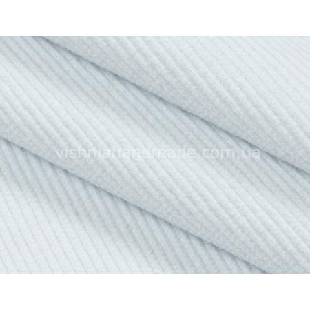 Трикотаж для манжет белый кашкорсе (резинка), 10*25 см