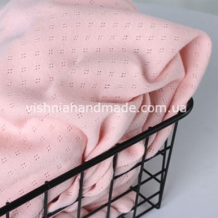 Отрез светло розового ажурного трикотажа, 25*45 см