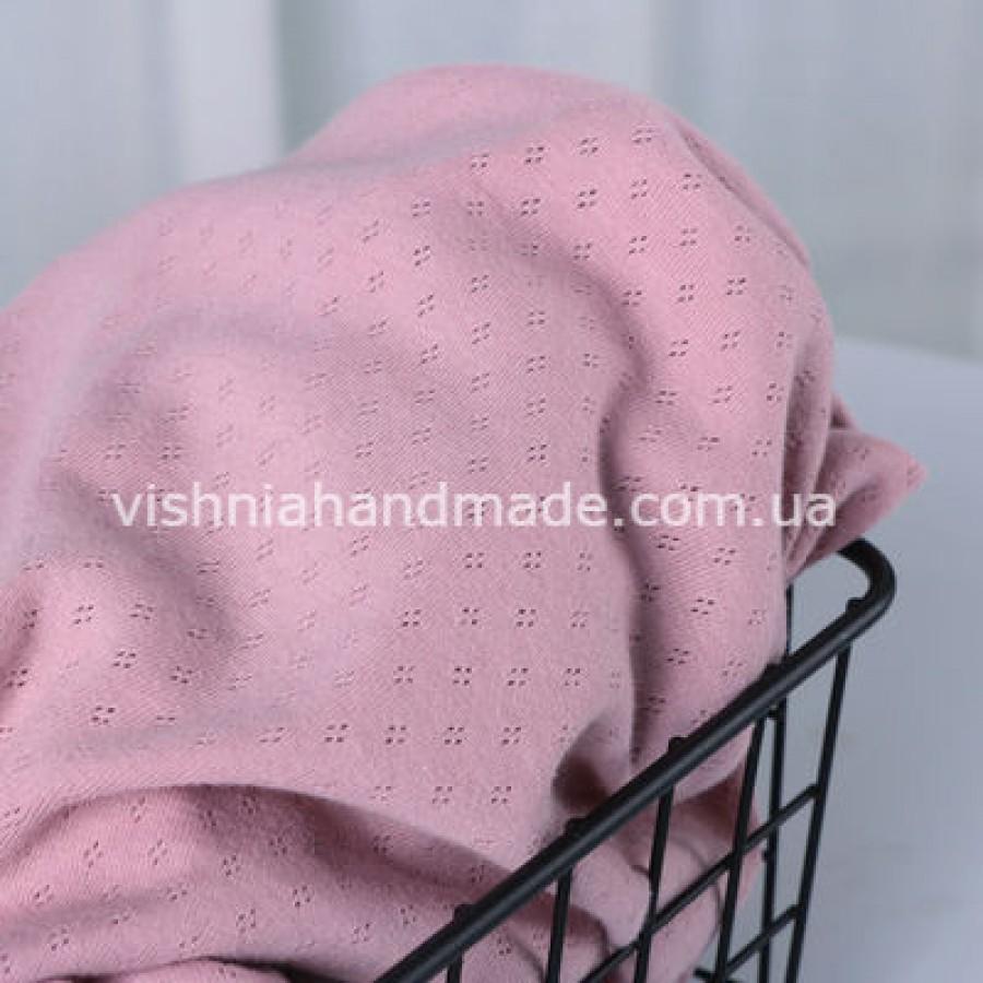 Отрез темно розового ажурного трикотажа, 25*45 см
