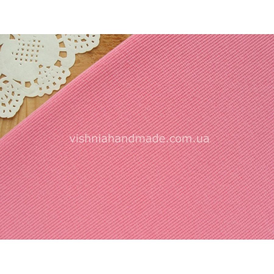 Трикотаж для манжет розовый кашкорсе (резинка), 10*25 см