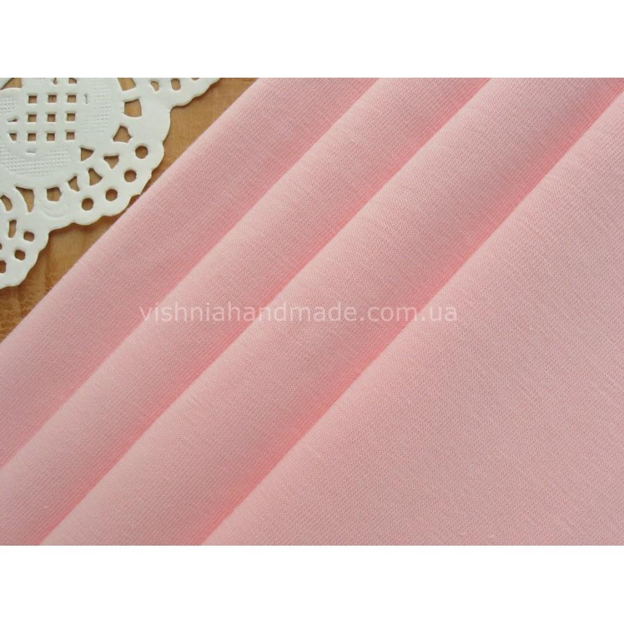 Отрез светло розового трикотажа стрейч-кулир, 50*45 см