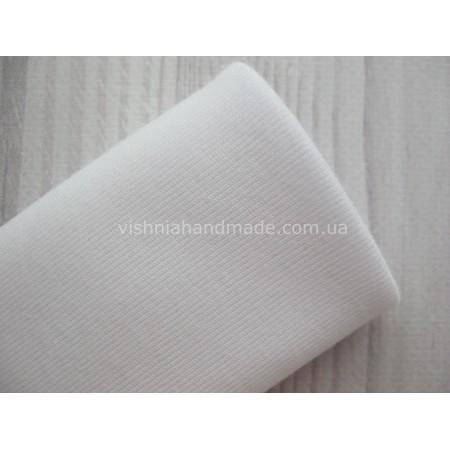 Трикотаж для манжет белый РИБАНА (резинка), 50*45 см