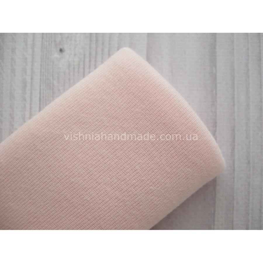 Трикотаж для манжет светло розовый РИБАНА (резинка), 50*45 см