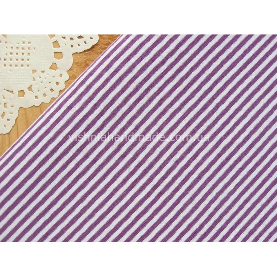 Трикотаж стрейч-кулир фиолетовая полоска 3 мм, 25*40 см